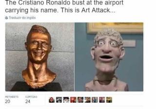 Busto de Ronaldo alvo de piadas nas redes sociais