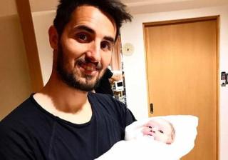 Após dois anos da perda da amada, Hugo Vieira foi pai pela primeira vez