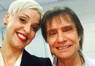 Mariza não perdeu o concerto de Roberto Carlos