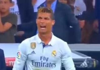 Foi assim que Ronaldo expressou a sua fúria após os golos de Messi
