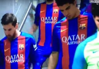 Messi cuspiu um dente acidentalmente