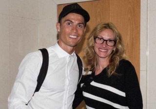 Ronaldo 'reage' ao encontro com Julia Roberts