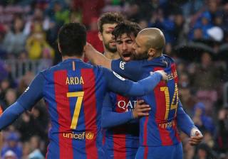 Chuva de golos em Barcelona com André Gomes em destaque