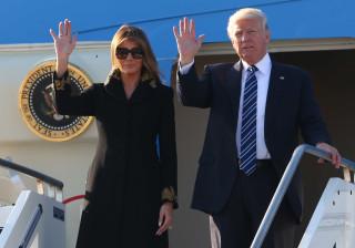 Mais uma vez, Melania deixa Trump ficar mal