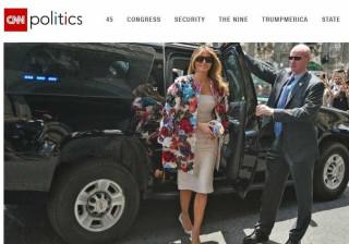 Melania Trump: Na viagem a Itália, foi o casaco que se destacou