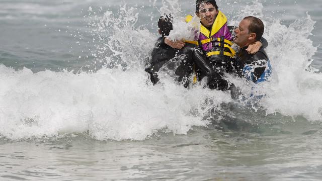 Surf adaptado no lançamento de campanha para eleições europeias