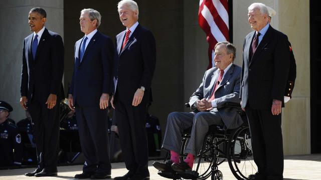 Ex-presidentes juntam-se para angariar dinheiro para vítimas de furacões