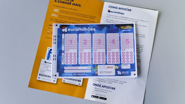 'Jackpot' de 160 milhões de euros no próximo sorteio do Euromilhões