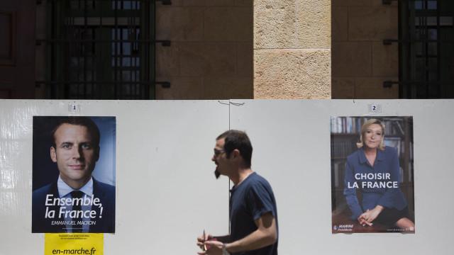 Partidos de Macron e Le Pen praticamente empatados em sondagem