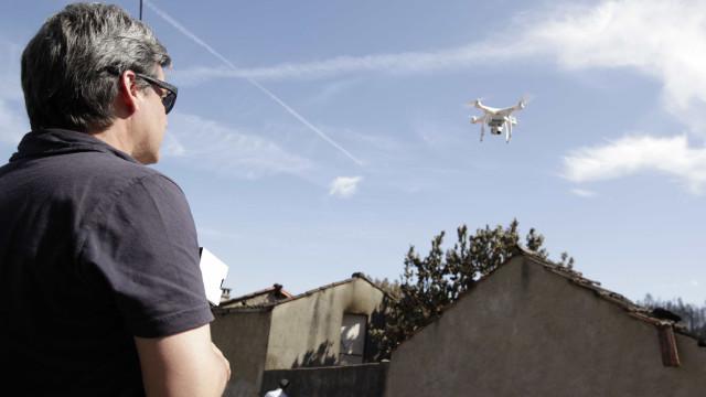 Drones mais perigosos para aeronaves que aves. Há potencial catastrófico