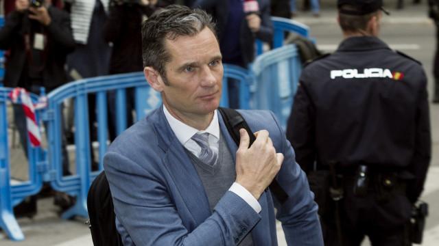Supremo baixou pena de Iñaki Urdangarin para 5 anos e 10 meses de cadeia