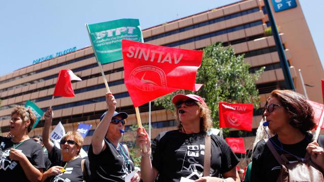 Mais de 2 mil trabalhadores da PT/MEO em marcha de Picoas até São Bento