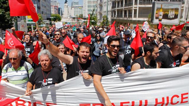 PT: UGT, CGTP e partidos da esquerda querem intervenção do Governo