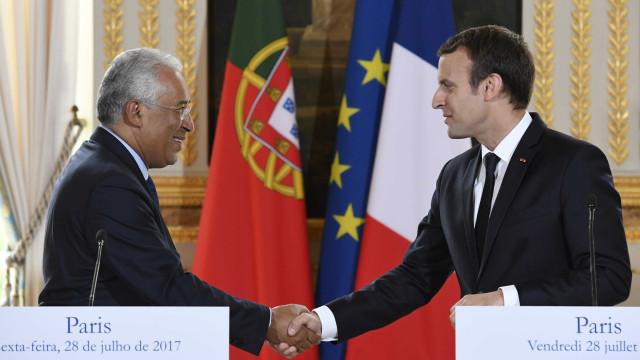 """Costa e Macron com """"visão comum"""" sobre Europa e """"novos avanços"""" na defesa"""