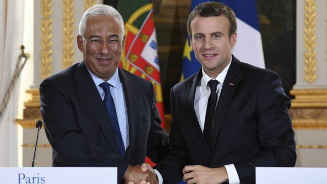 """Costa e Macron debatem """"ação europeia"""" para combater os fogos"""