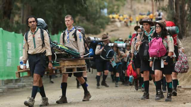 Quase 800 portugues participam no maior encontro de escuteiros do mundo