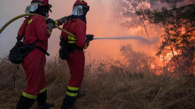 Duzentos operacionais combatem as chamas em S. Pedro do Sul