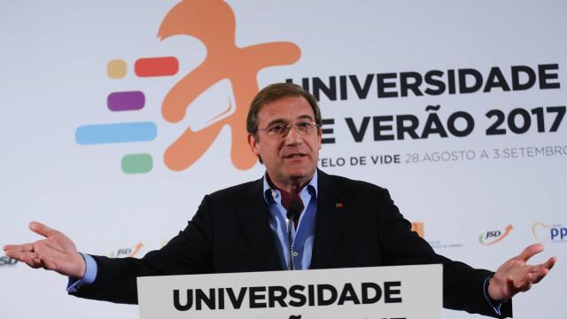 """Passos considera """"secundário"""" eventual consenso entre PSD e PS"""