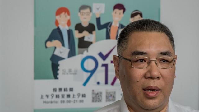 Chefe do executivo de Macau na cidade chinesa Zhuhai na abertura de ponte