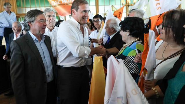 """Passos Coelho acusa Governo de ter """"tiques de autoritarismo"""""""