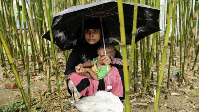 """Mais de 150 mil crianças refugiadas rohingyas """"severamente desnutridas"""""""
