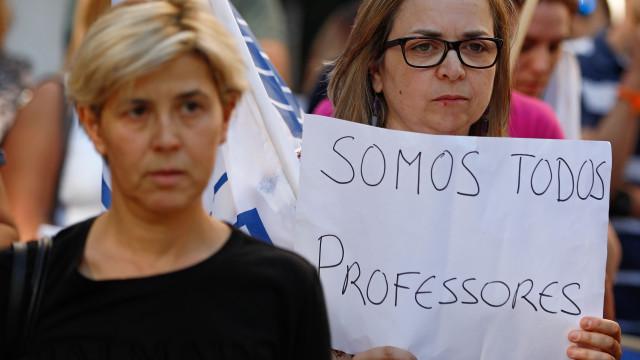 Professores na rua para exigirem tempo de serviço que Governo já negou