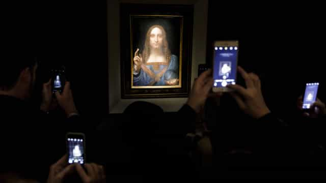 Quadro de Leonardo da Vinci vendido por recorde de 380 milhões