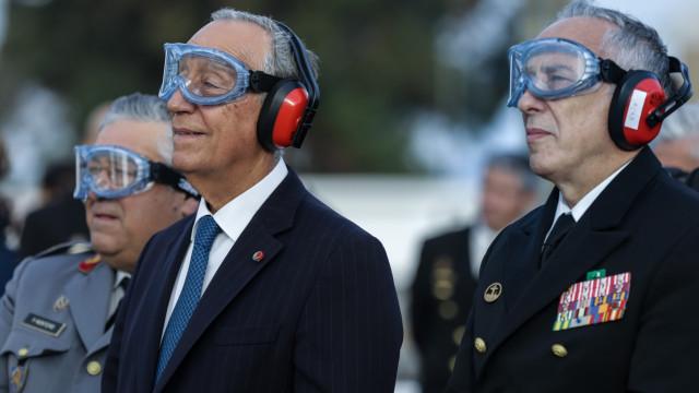 Marcelo surpreendido com a formação da Marinha Portuguesa