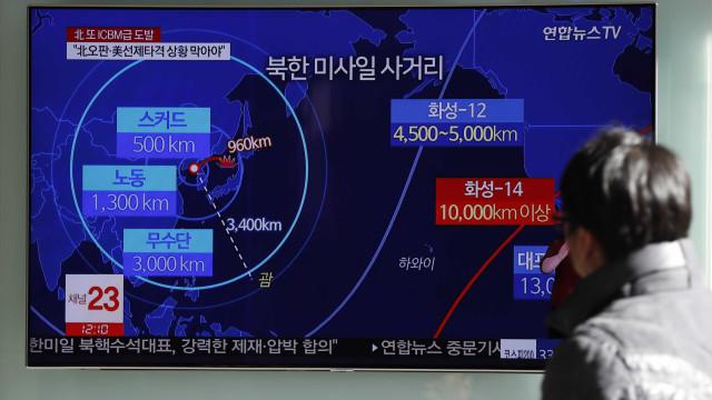 Pyongyang confirma que míssil pode alcançar todo o território dos EUA