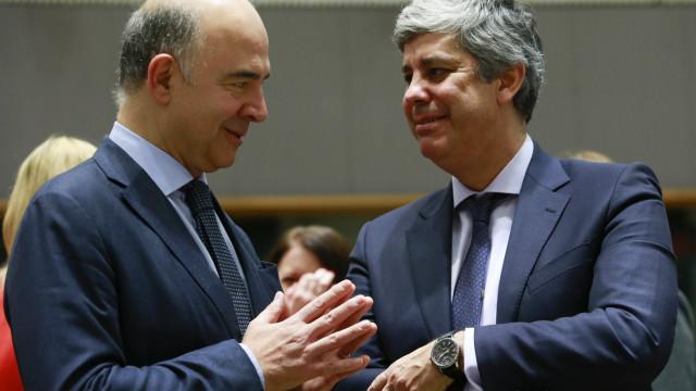 Centeno recebe Moscovici em Lisboa para debater prioridades do Eurogrupo