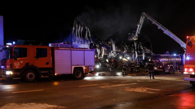 Incêndio em fábrica de Anadia provocou estragos de um milhão de euros
