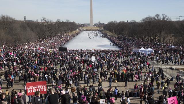 """""""Marchas das Mulheres"""" no primeiro aniversário da presidência Trump"""