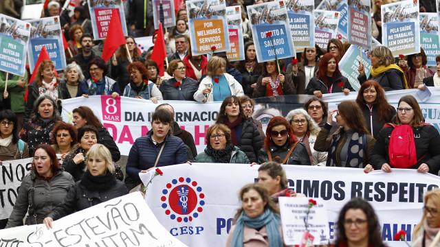 Milhares de trabalhadores hoje na manifestação nacional da CGTP em Lisboa
