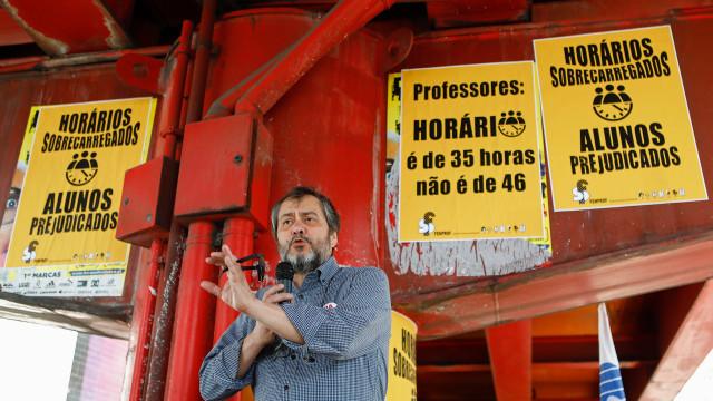 Professores exigem horário de 35 horas como os restantes trabalhadores