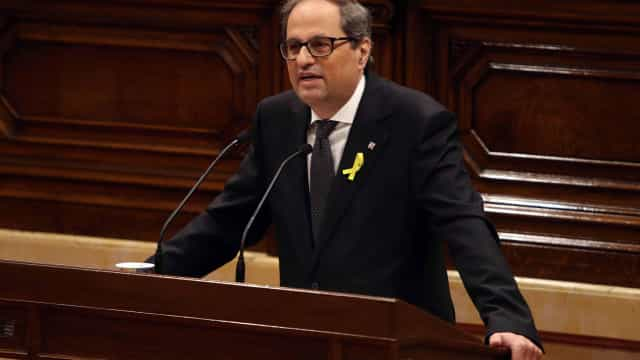 Catalunha: Quim Torra forma executivo com detidos e exilados