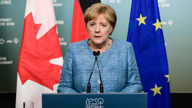 Merkel anuncia que G7 adotará posição comum sobre o comércio
