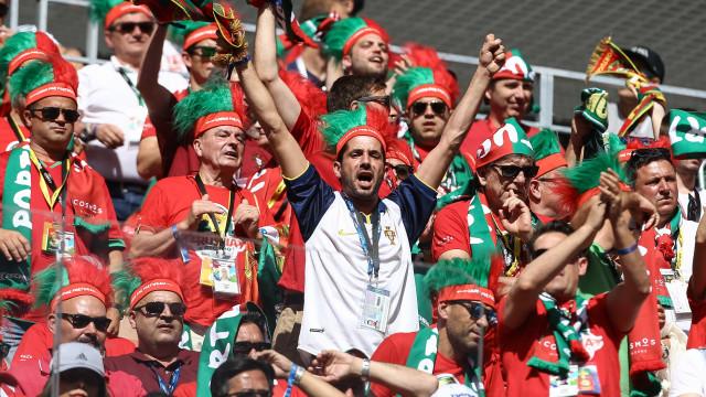 PSP na Rússia elogia comportamento dos adeptos portugueses