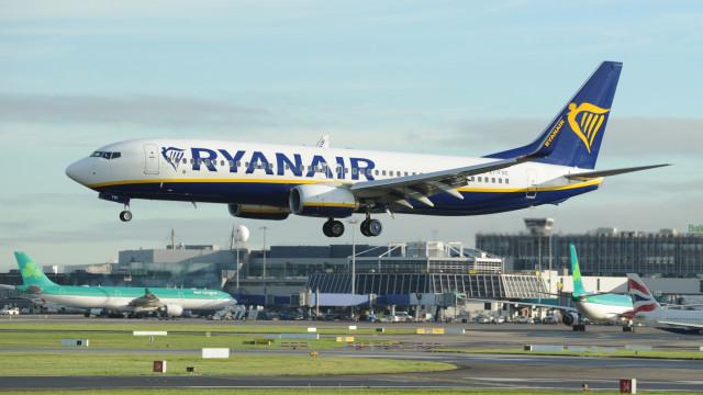 """Quase 300 voos da Ryanair na Irlanda """"realizados normalmente"""""""