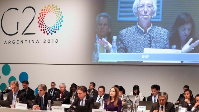 G20 alerta para ameaça das tensões comerciais no crescimento mundial