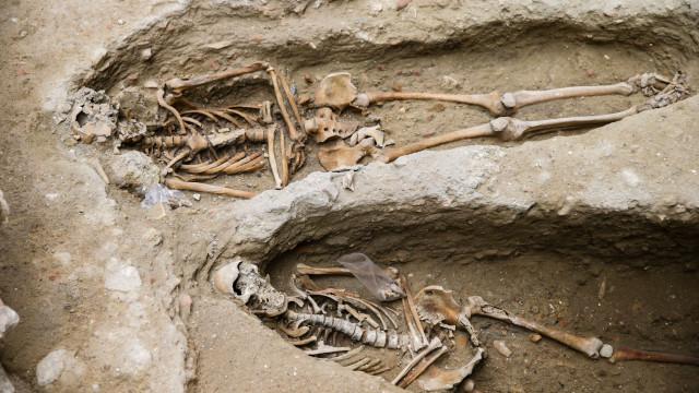 Cemitério medieval com cerca de 20 corpos encontrado no centro de Lisboa