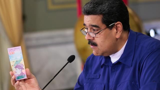 Presidente Nicolás Maduro elimina cinco zeros ao bolívar