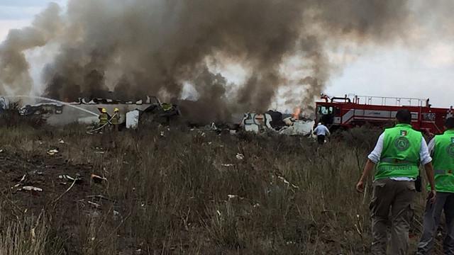 Acidente aéreo no México causou dois feridos graves e 49 ligeiros