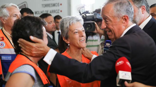"""Marcelo recusa """"triunfalismos"""" injustificados quanto ao fogo de Monchique"""