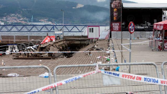 Não há portugueses entre vítimas de queda de plataforma em Vigo