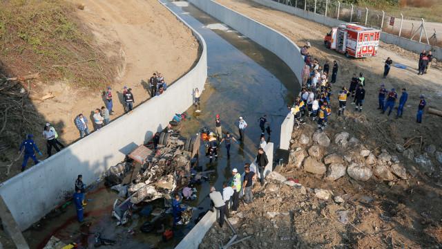 Cinco detidos na Turquia após a morte de 22 migrantes em acidente