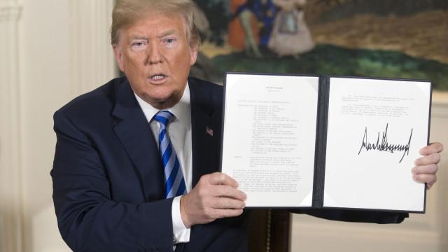 """Paris, Londres, Berlim e UE """"lamentam vivamente"""" sanções dos EUA ao Irão"""