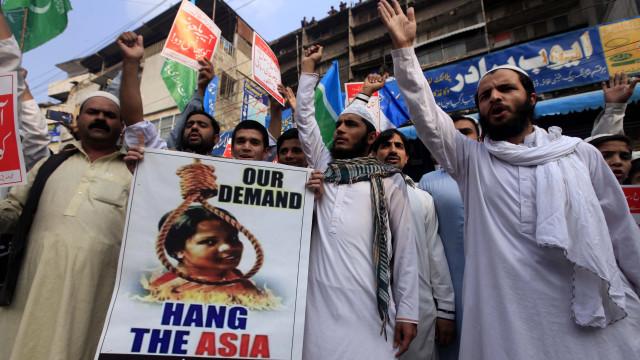 Terminam protestos no Paquistão contra a libertação de Asia Bibi