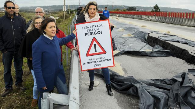 """CDS mostra """"país preso por arames"""" e desafia Governo a investir"""