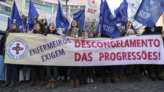 Greve dos enfermeiros na região de Lisboa com 68% de adesão