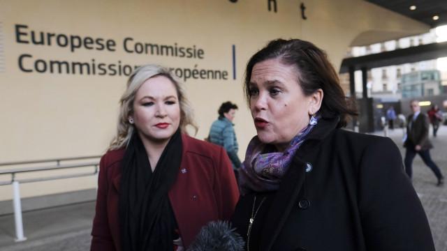 Líder do Sinn Féin quer referendo no caso de Brexit sem acordo